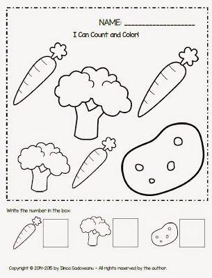 Vegetable Worksheets for Kindergarten Fruit and Ve Ables Worksheets Freebie