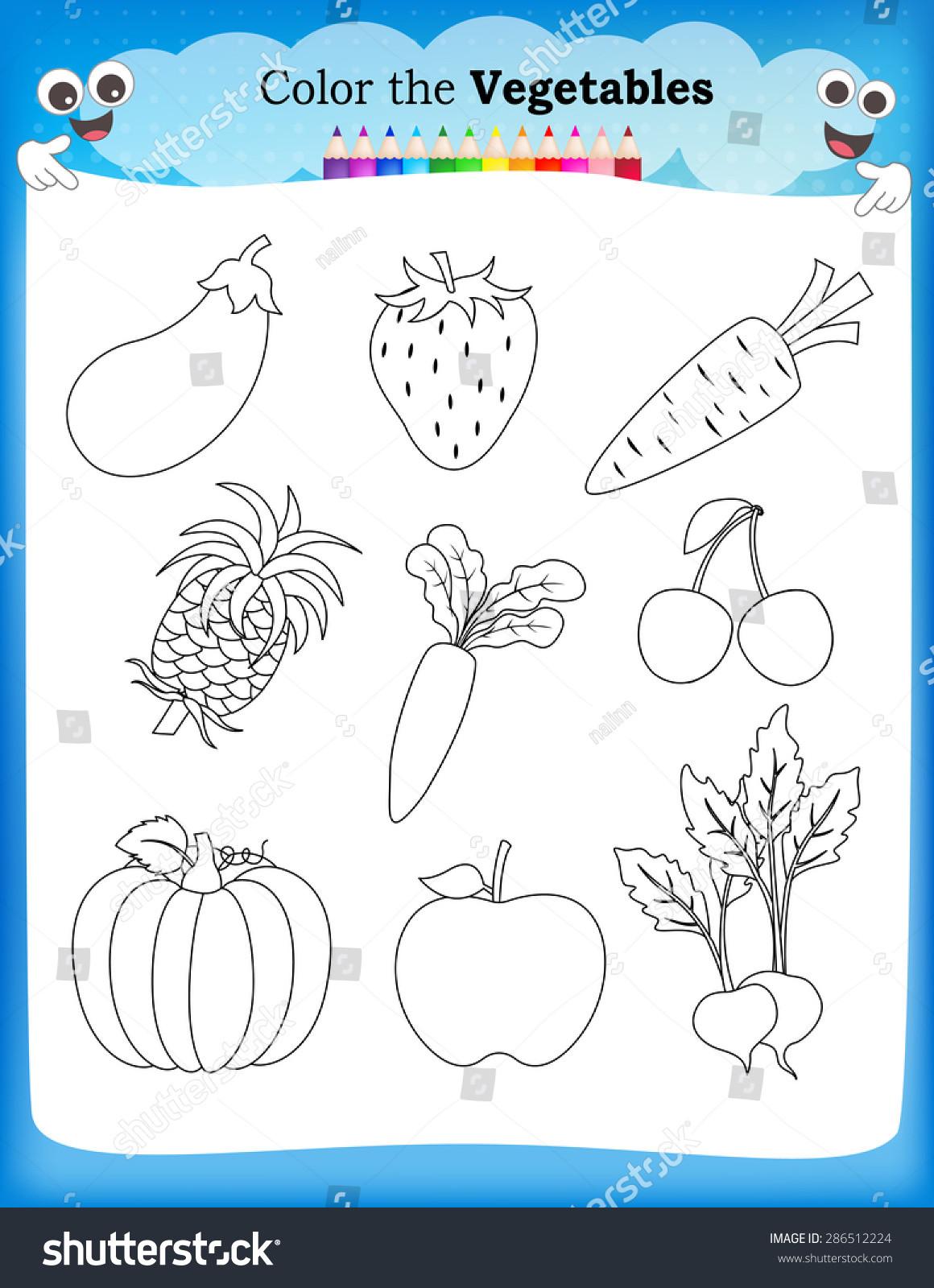 Vegetable Worksheets for Kindergarten Kindergarten Lesson Fruits and Ve Able Worksheet