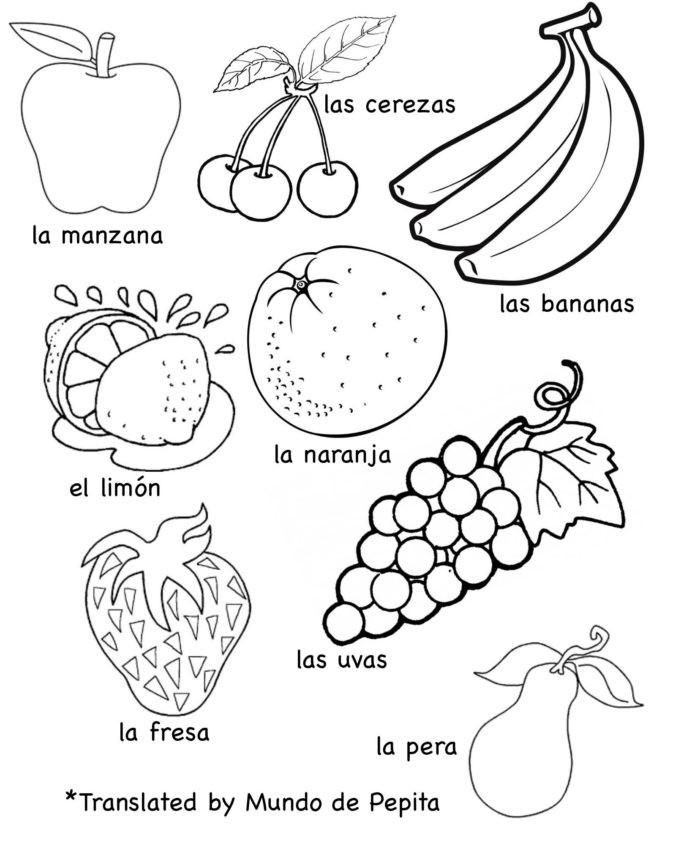Vegetable Worksheets for Kindergarten Multilingual Printables Fruits and Ve Ables In Languages