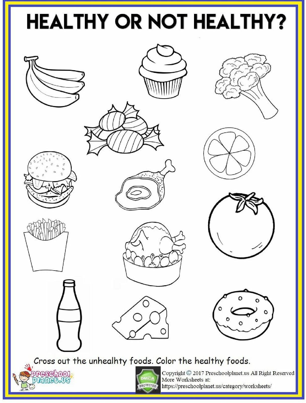 Vegetable Worksheets for Preschool 4 Food Worksheets Preschool Fruits and Ve Ables