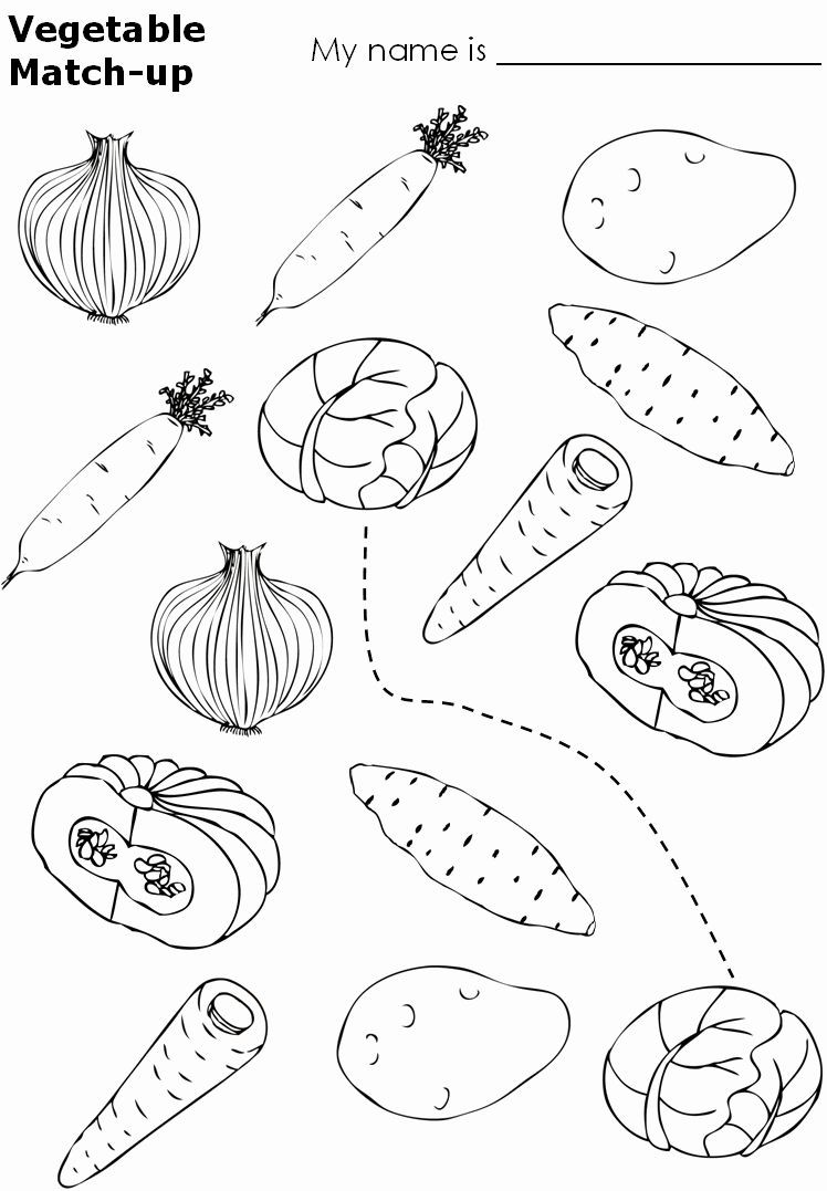Vegetable Worksheets for Preschool Coloring Ve Ables Worksheets Pdf In 2020