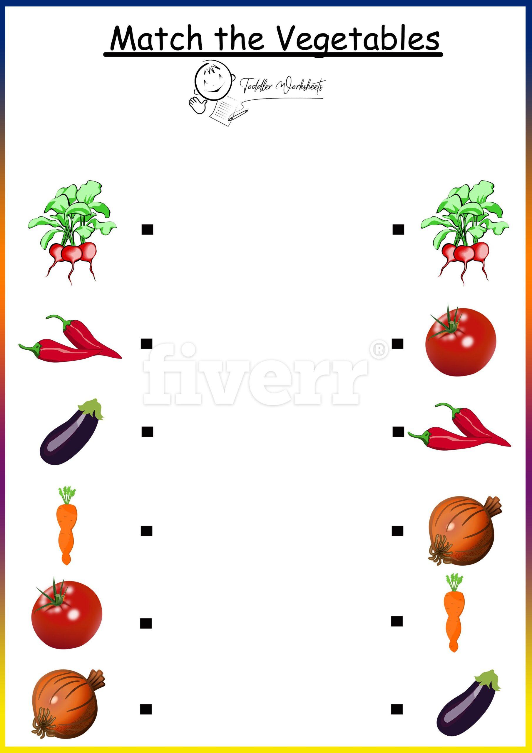 Vegetable Worksheets for Preschool Ve Ables Worksheet for Preschool Family Members Exercises