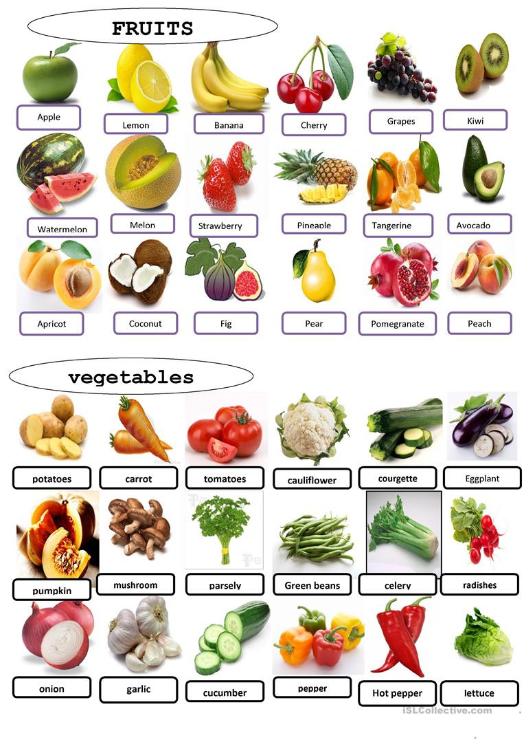 Vegetables Worksheets for Kindergarten English Esl Ve Ables Worksheets Most Ed 193