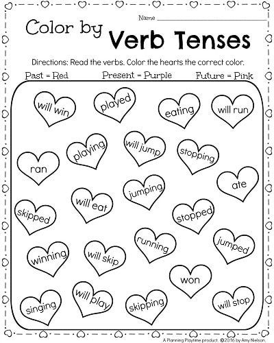 Verb Tense Worksheets 1st Grade 1st Grade Math and Literacy Printables February