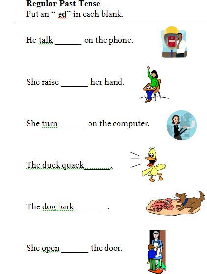 Verb Tense Worksheets 1st Grade Past Tense Worksheets First Grade