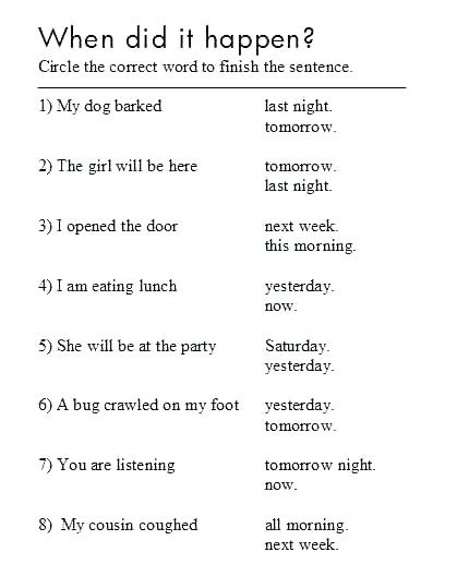Verb Tense Worksheets 1st Grade Verb Tense Worksheets 3rd Grade Verb Tense Worksheets Grade