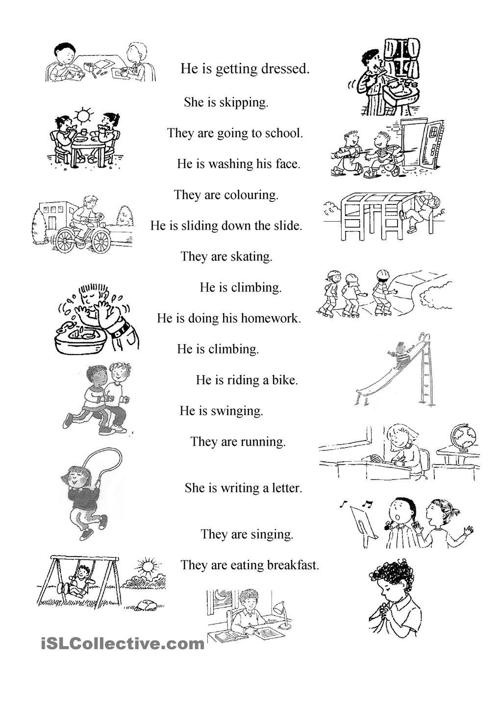 Verb Worksheet 2nd Grade Verbs
