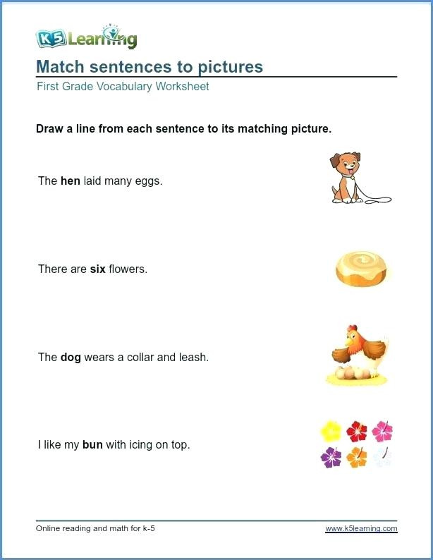 Vocabulary Worksheets for 1st Graders 38 Interesting Context Clues Worksheets