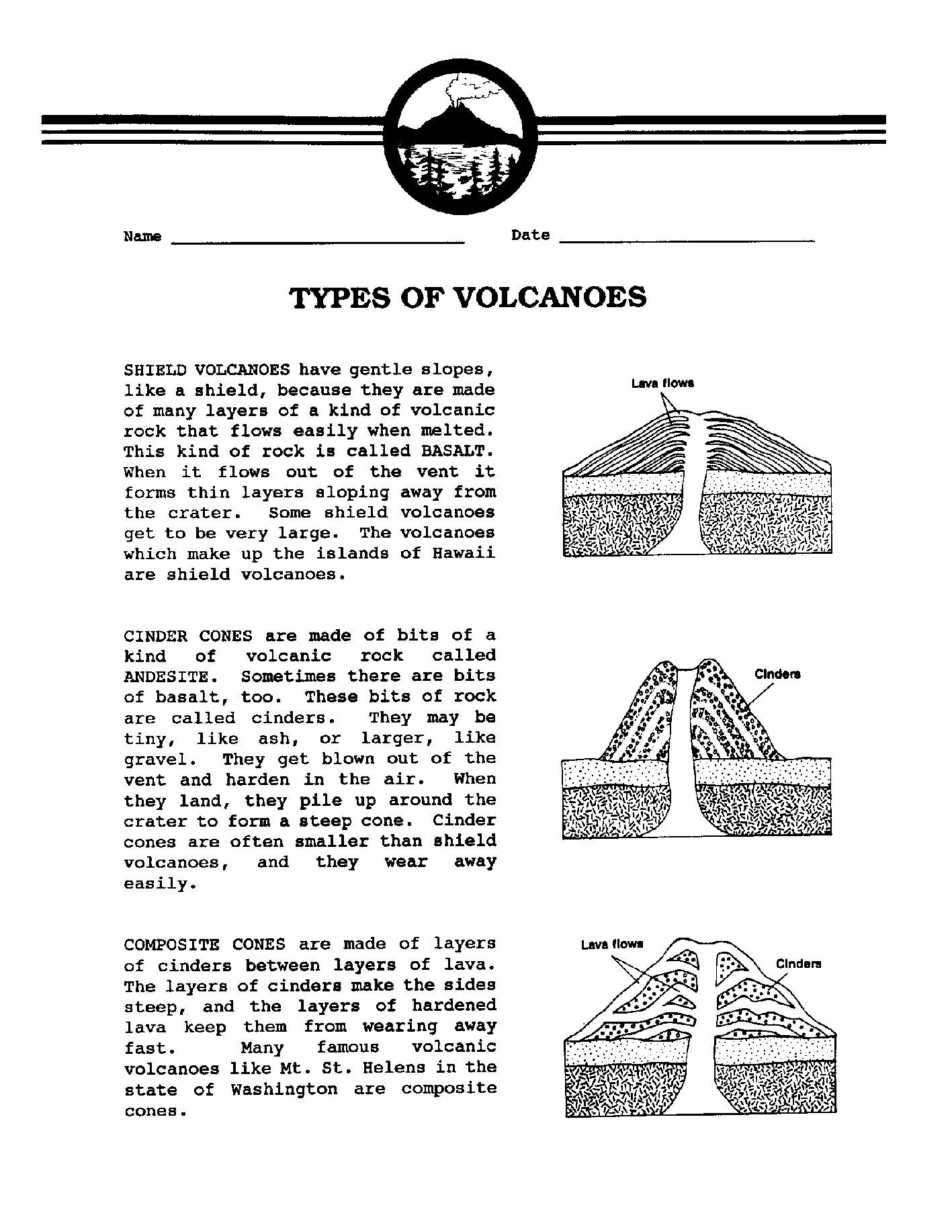 Volcano Worksheets for Kindergarten 83 [pdf] Volcano Worksheets for Elementary School Printable
