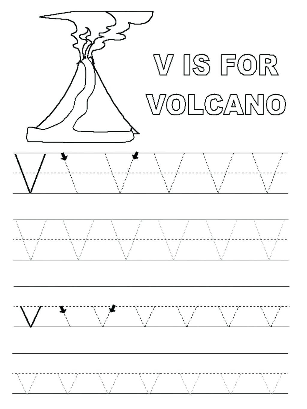 Volcano Worksheets for Kindergarten Preschool Volcano Worksheets Clover Hatunisi