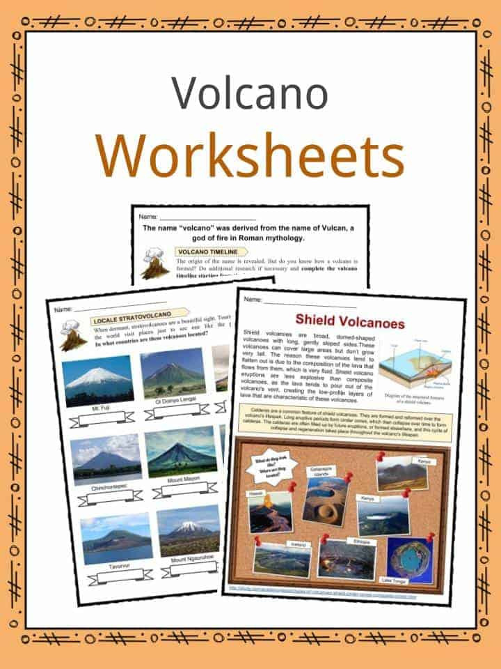 Volcano Worksheets for Kindergarten Volcano Fun Facts Worksheets & Interesting Information for Kids