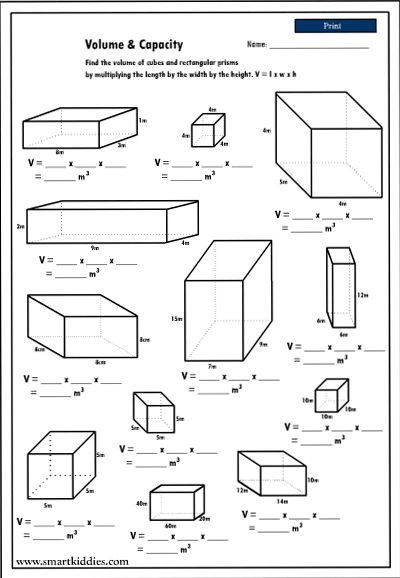 Volume Worksheet 4th Grade Calculating the Volume Of Rectangular Prisms Mathematics