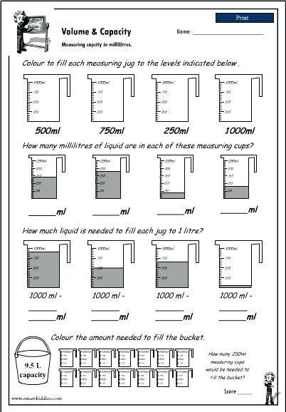Volume Worksheet 4th Grade Image Result for Grade 4 Volume and Capacity Worksheets