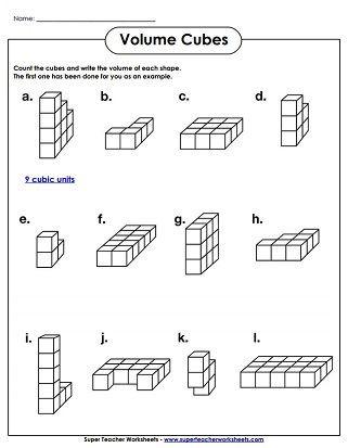Volume Worksheet 4th Grade Volume Cubes Worksheet Easy