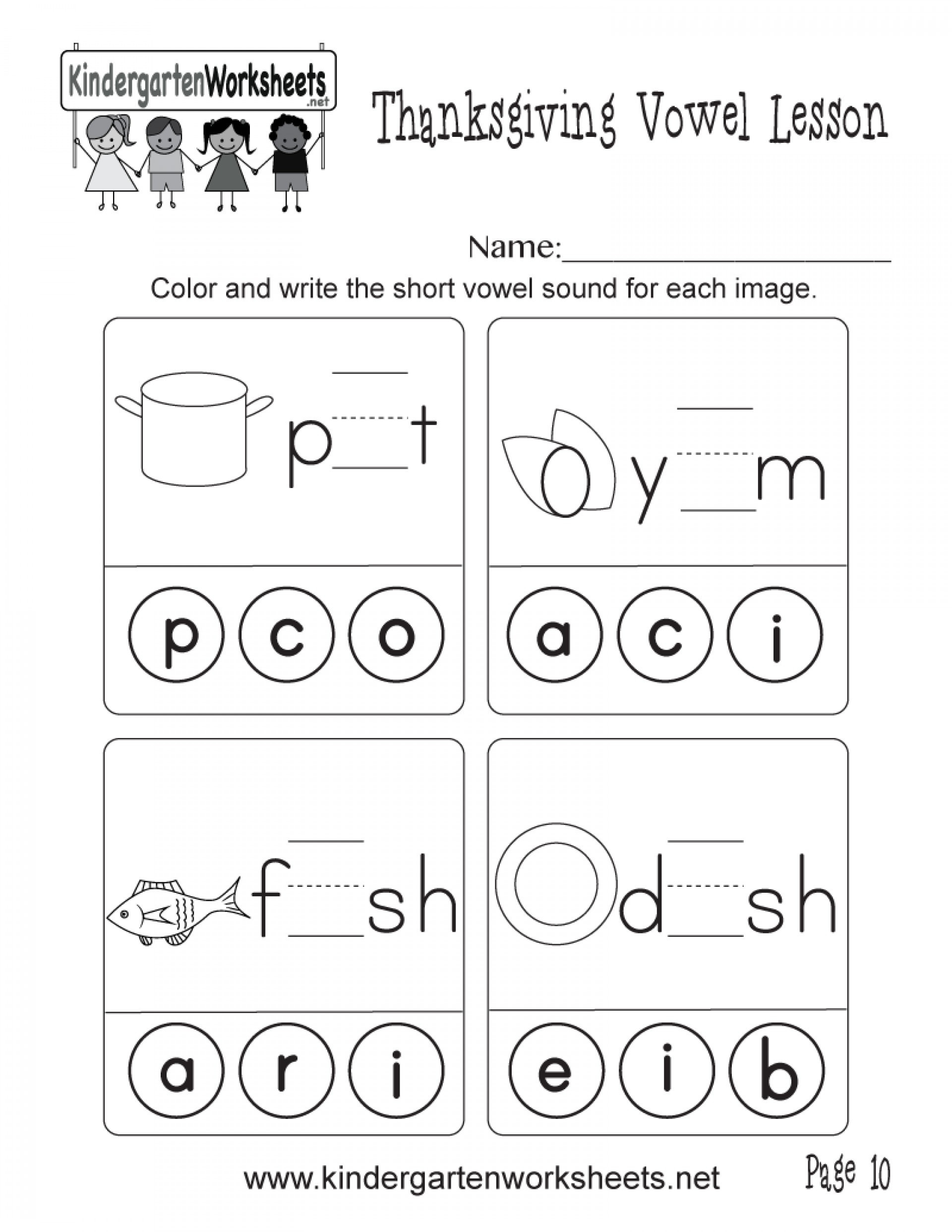 Vowel Worksheets for Kindergarten 6 Long and Short Vowel sounds Worksheets – Learning Worksheets