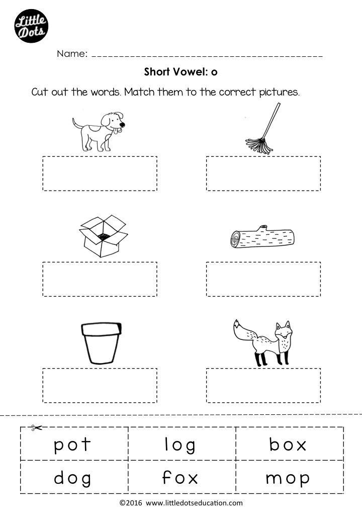 Vowel Worksheets for Kindergarten Free Short Vowel O Worksheet and Activity for Preschool or