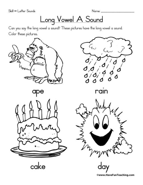Vowel Worksheets for Kindergarten Long Vowels Worksheets • Have Fun Teaching
