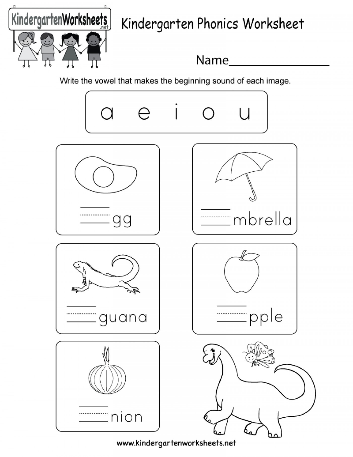 Vowel Worksheets for Kindergarten Vowel Worksheet for Preschool Clover Hatunisi
