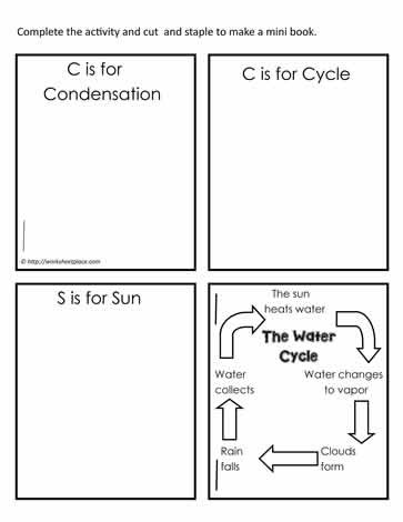 Water Cycle Worksheet Kindergarten Mini Water Cycle Booklet Worksheets