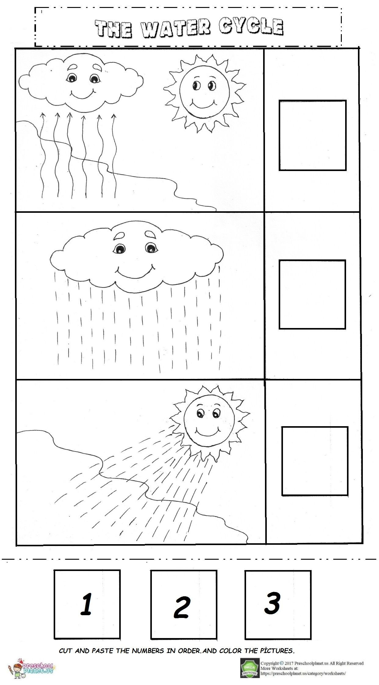Water Cycle Worksheet Kindergarten the Water Cycle Worksheet