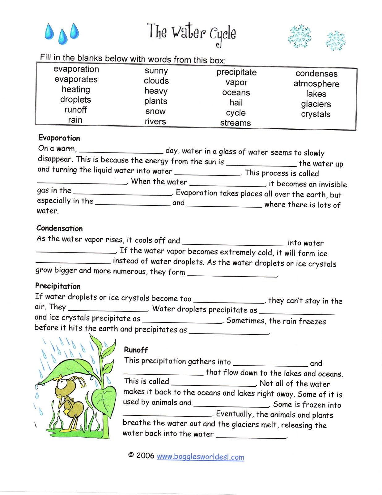 Water Cycle Worksheets 2nd Grade Water Cycle Worksheets 2nd Grade