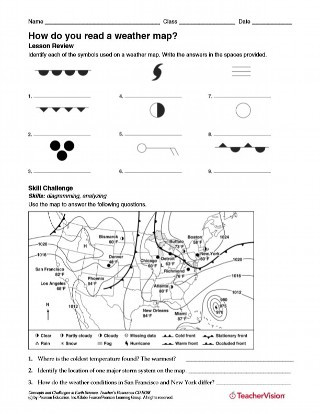 Weather Worksheets for 2nd Graders How Do You Read A Weather Map Weather Science Printable