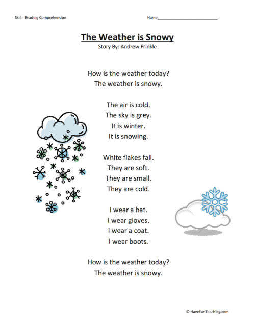 Weather Worksheets for 2nd Graders Weather Worksheets • Have Fun Teaching