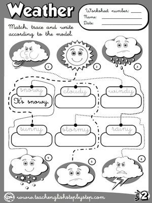 Weather Worksheets for First Graders the Weather Worksheet 4 B&w Version