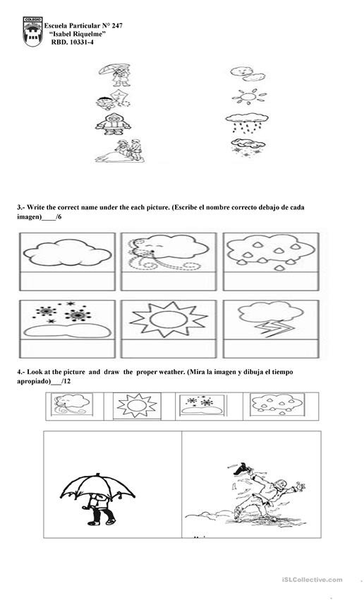 weather 1st grade worksheet templates layouts 2