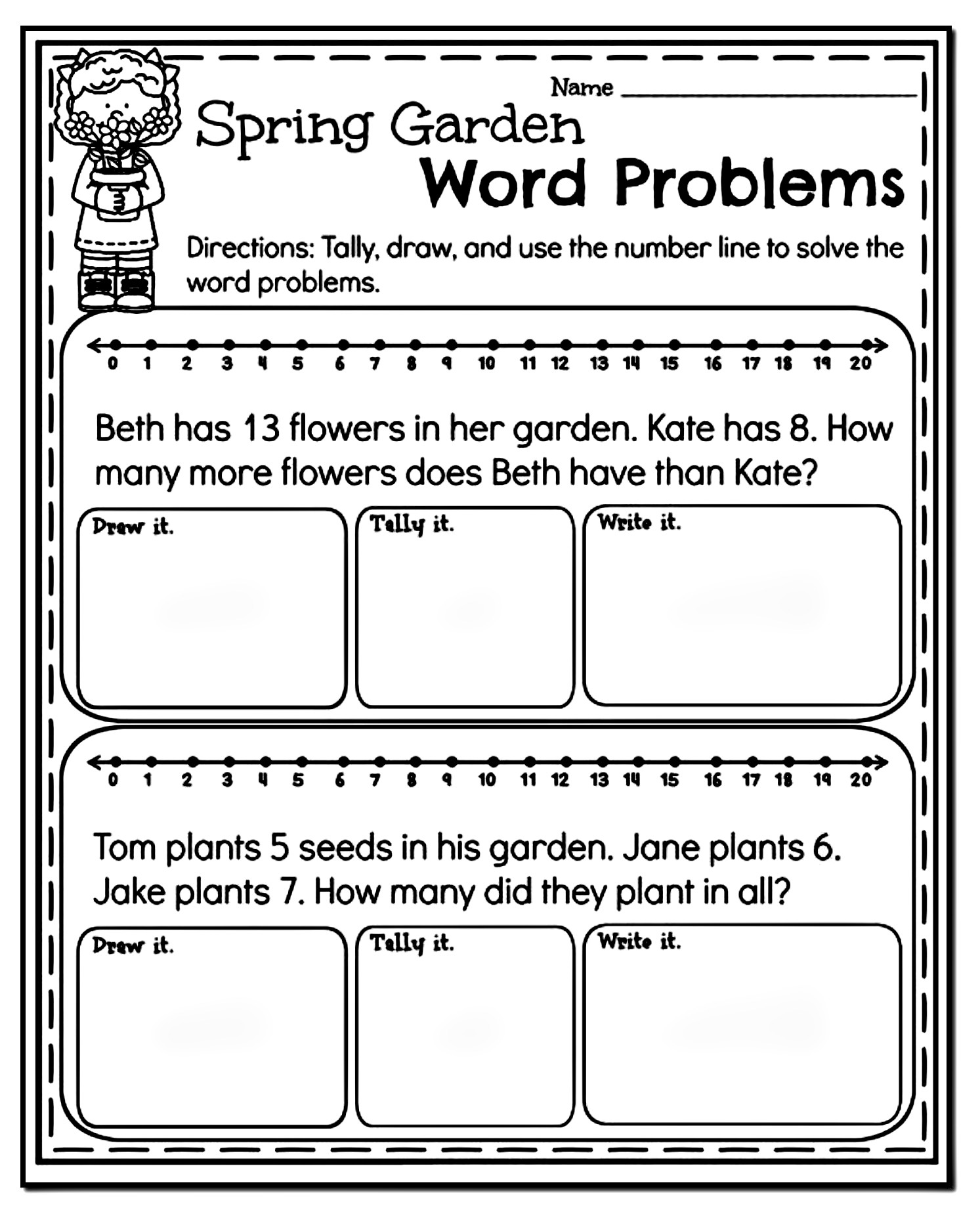Word Problem Worksheets 1st Grade 10 Amazing 1st Grade Math Word Problems Worksheets Samples