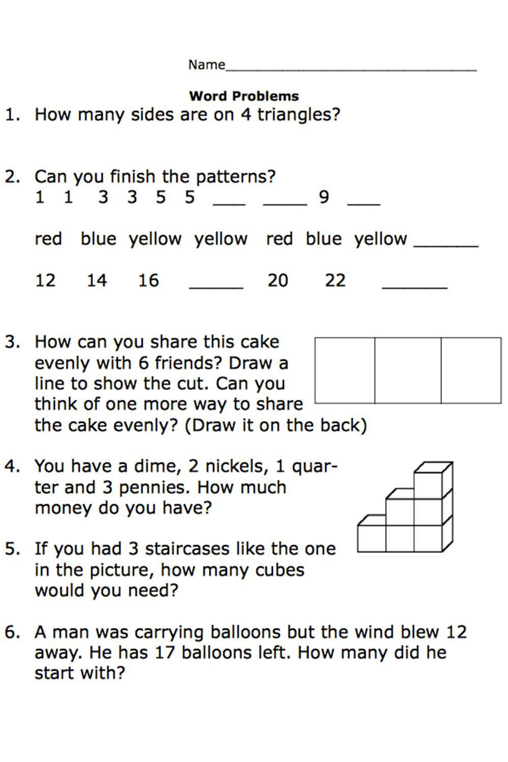 Word Problem Worksheets 1st Grade Free Printable Worksheets for Second Grade Math Word