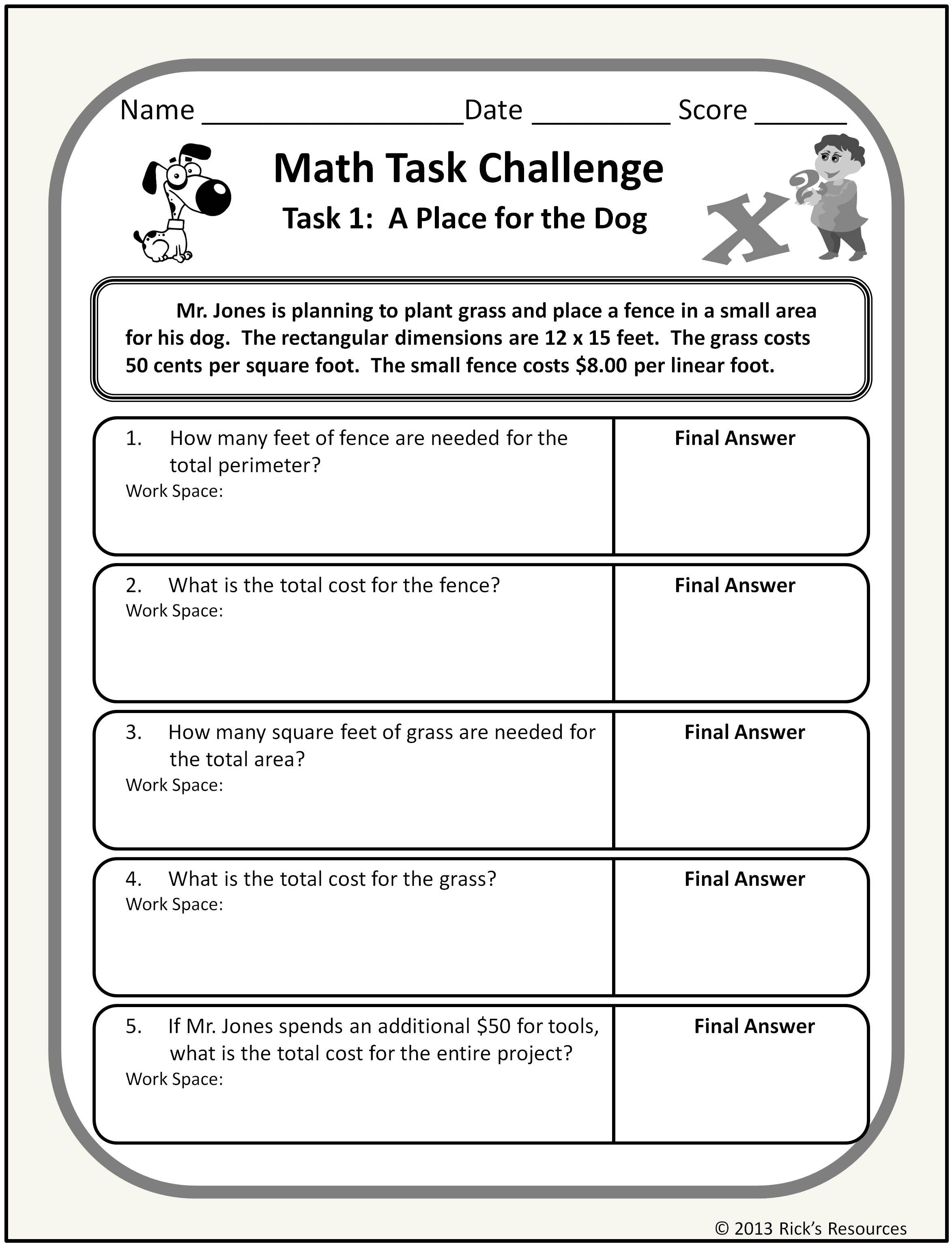 Word Problem Worksheets for Kindergarten Math Word Problem Worksheets Distance Learning Homeschool