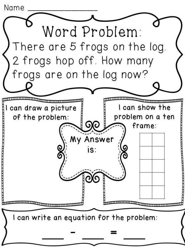 Word Problem Worksheets for Kindergarten Subtraction within 10 Word Problems Worksheets to Help Kids