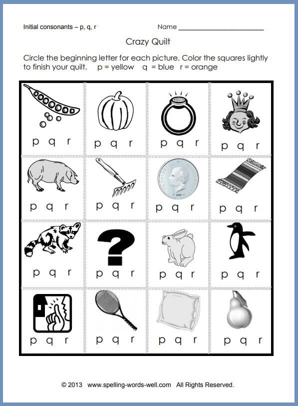 Word Problems for Kindergarten Worksheets Printable Phonics Worksheets for Learners Free Crazy Quilt