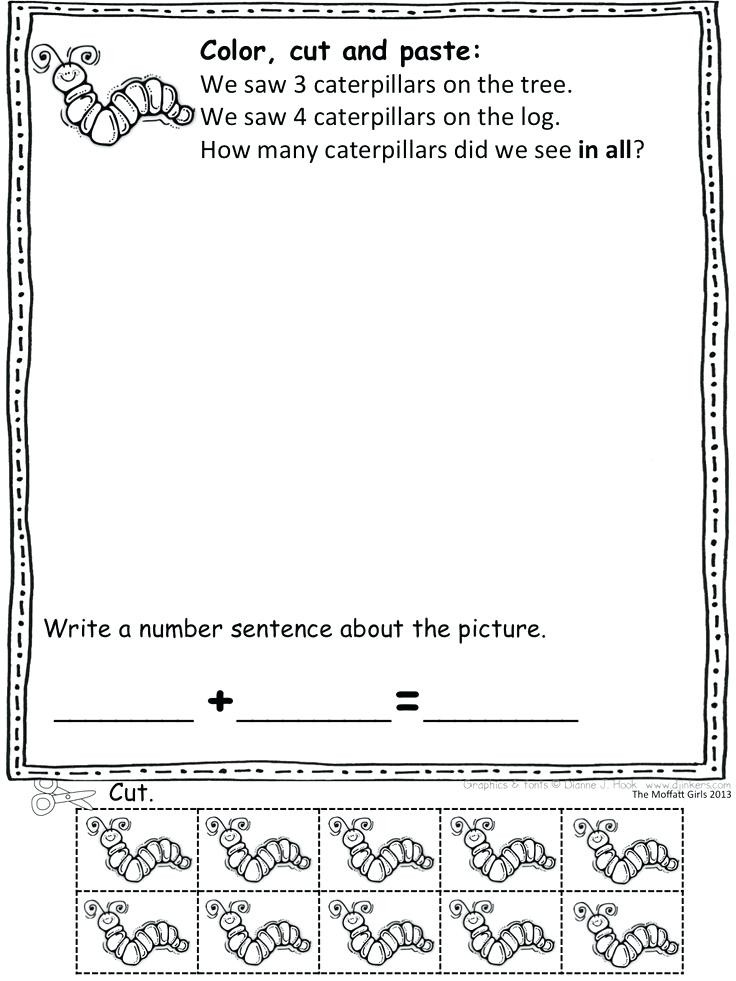 Word Problems Worksheets for Kindergarten Kindergarten Word Problems Worksheets – Goodaction
