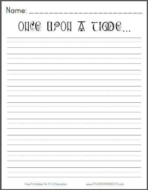 Writing Worksheet 2nd Grade Ce Upon Time Printable Writing Prompt Student Handouts 2nd