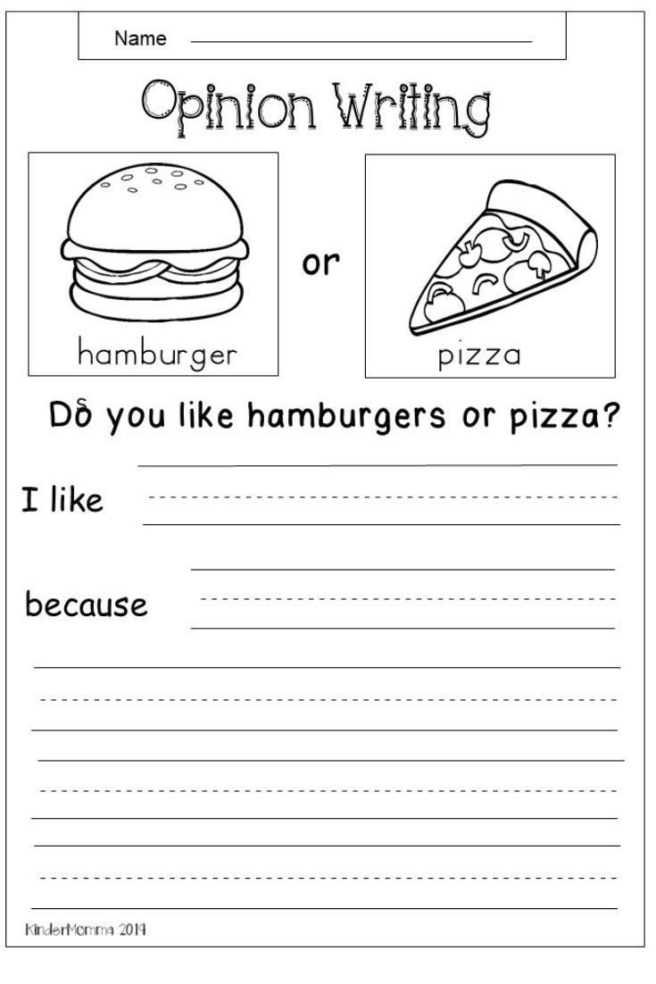 Writing Worksheet 2nd Grade Free Opinion Writing Worksheet