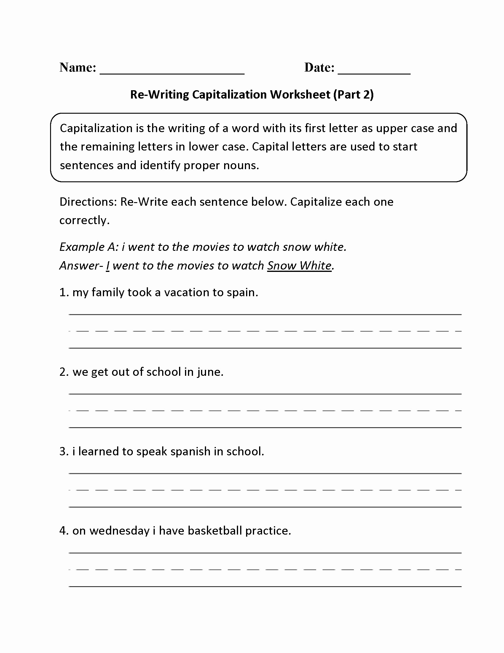 Writing Worksheets 4th Grade 4th Grade Writing Worksheets