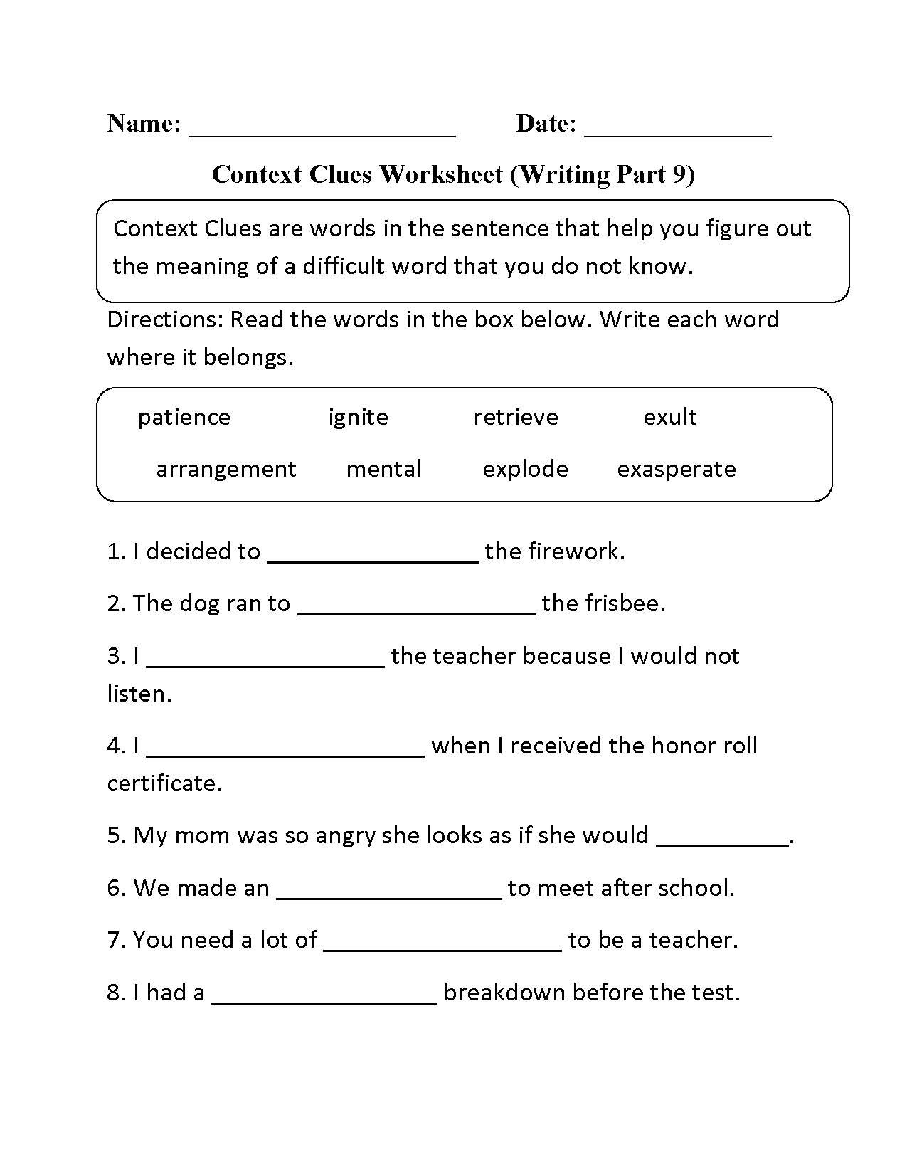 "Writing Worksheets 7th Grade English Worksheets for 7th Graders لم يسبق له Ù…Ø ÙŠÙ"" الصور"