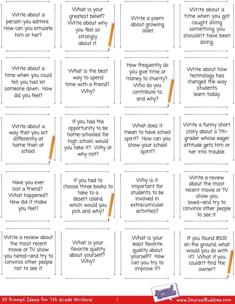 Writing Worksheets for 7th Grade 7th Grade Writing Worksheets • Journalbud S