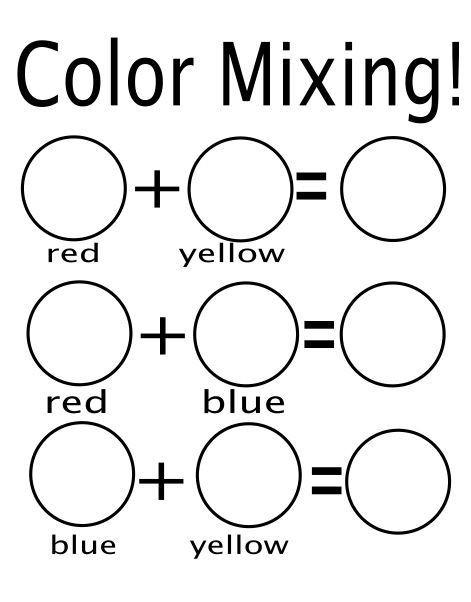 Yellow Worksheets for Preschool Color Mixing Colors Worksheets Kindergarten Mental