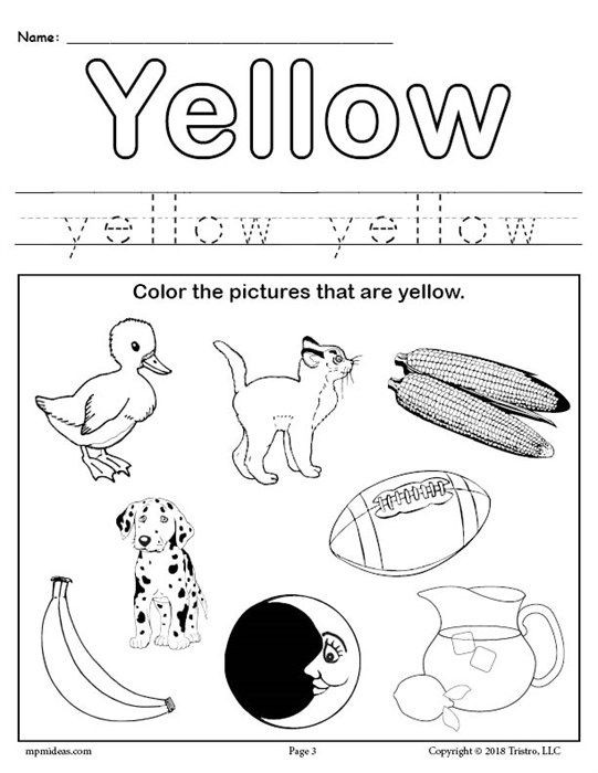 Yellow Worksheets for Preschool Free Preschool Worksheets and Preschool Printables with