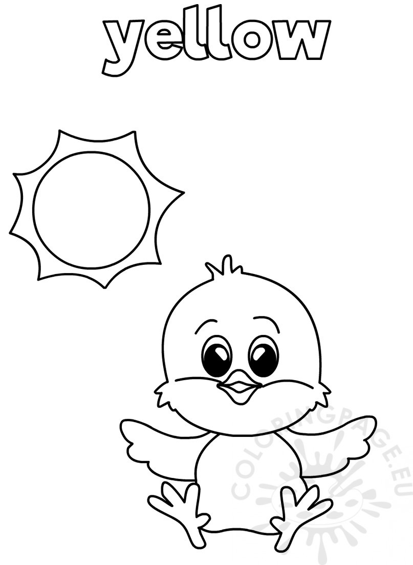 Yellow Worksheets for Preschool Yellow Coloring Worksheet for Kindergarten – Coloring Page