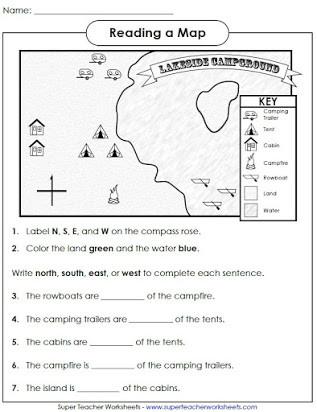 1st Grade Map Skills Worksheets Free Printable Map Skills Worksheets
