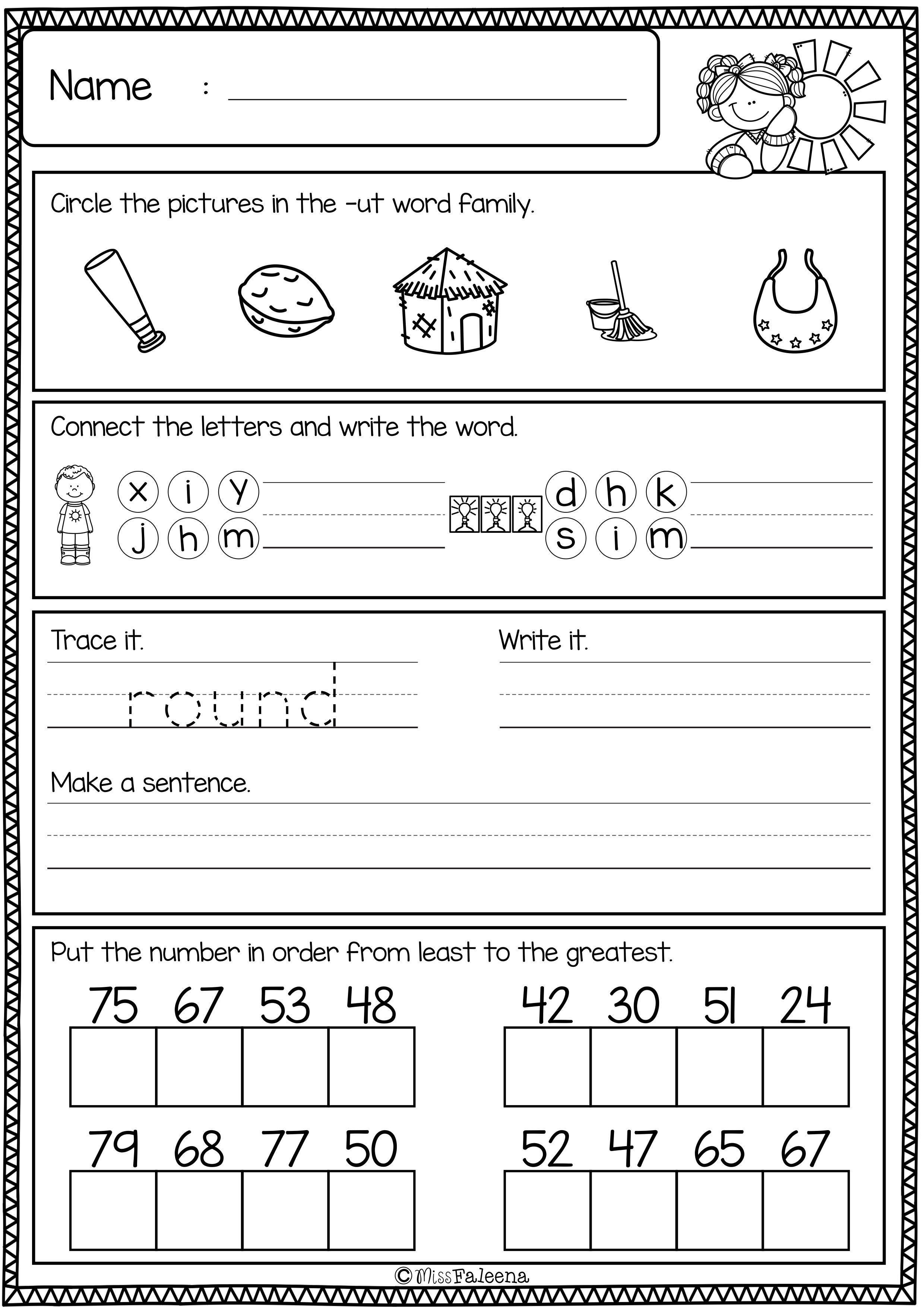 1st Grade Morning Work Worksheets First Grade Morning Work Set 2