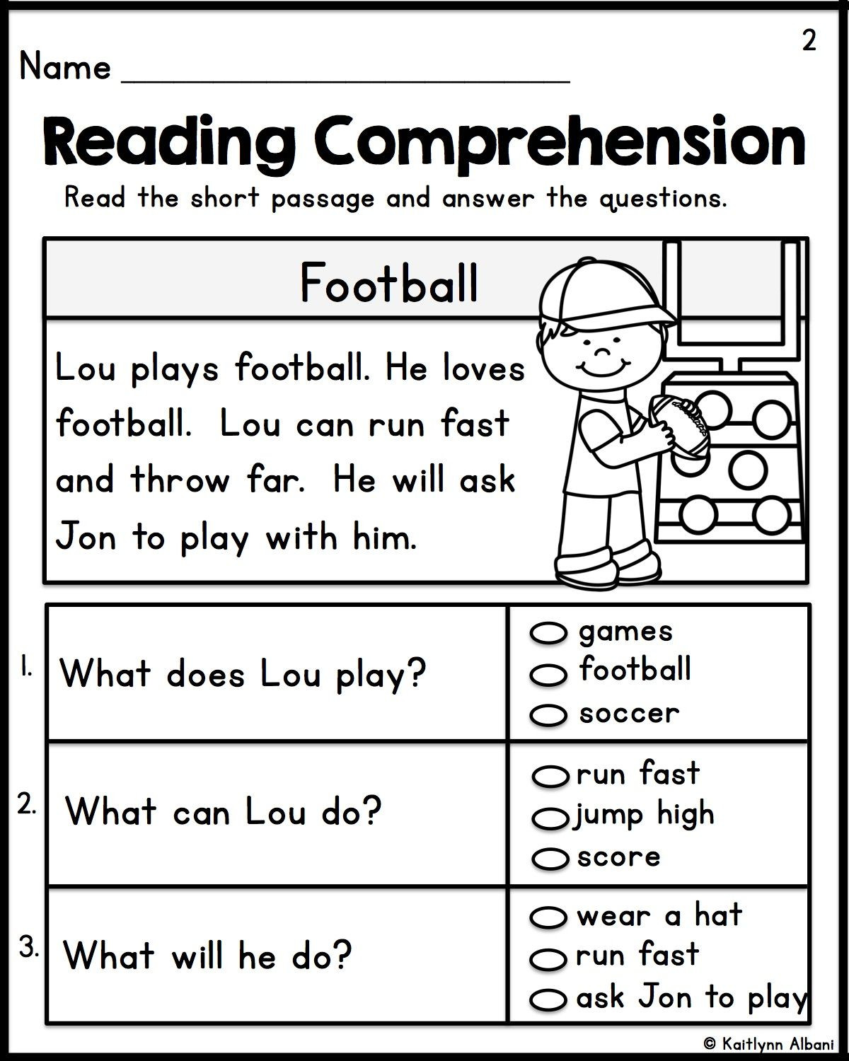 1st Grade Reading Worksheets Kindergarten Reading Prehension Passages Set 1