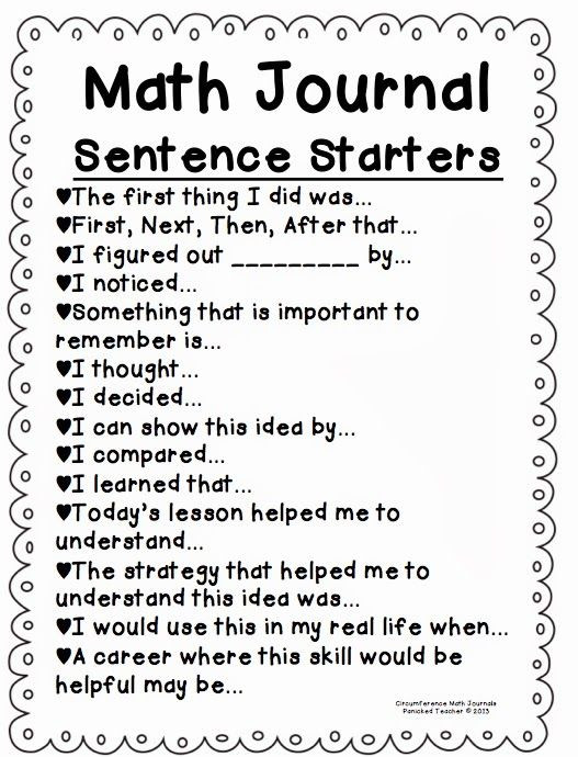 1st Grade Sentence Starters First Sentence Starters for Stories