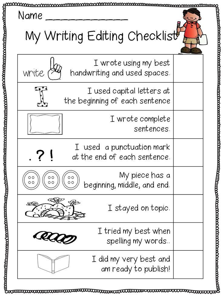 2nd Grade Editing Worksheets How S My Writing