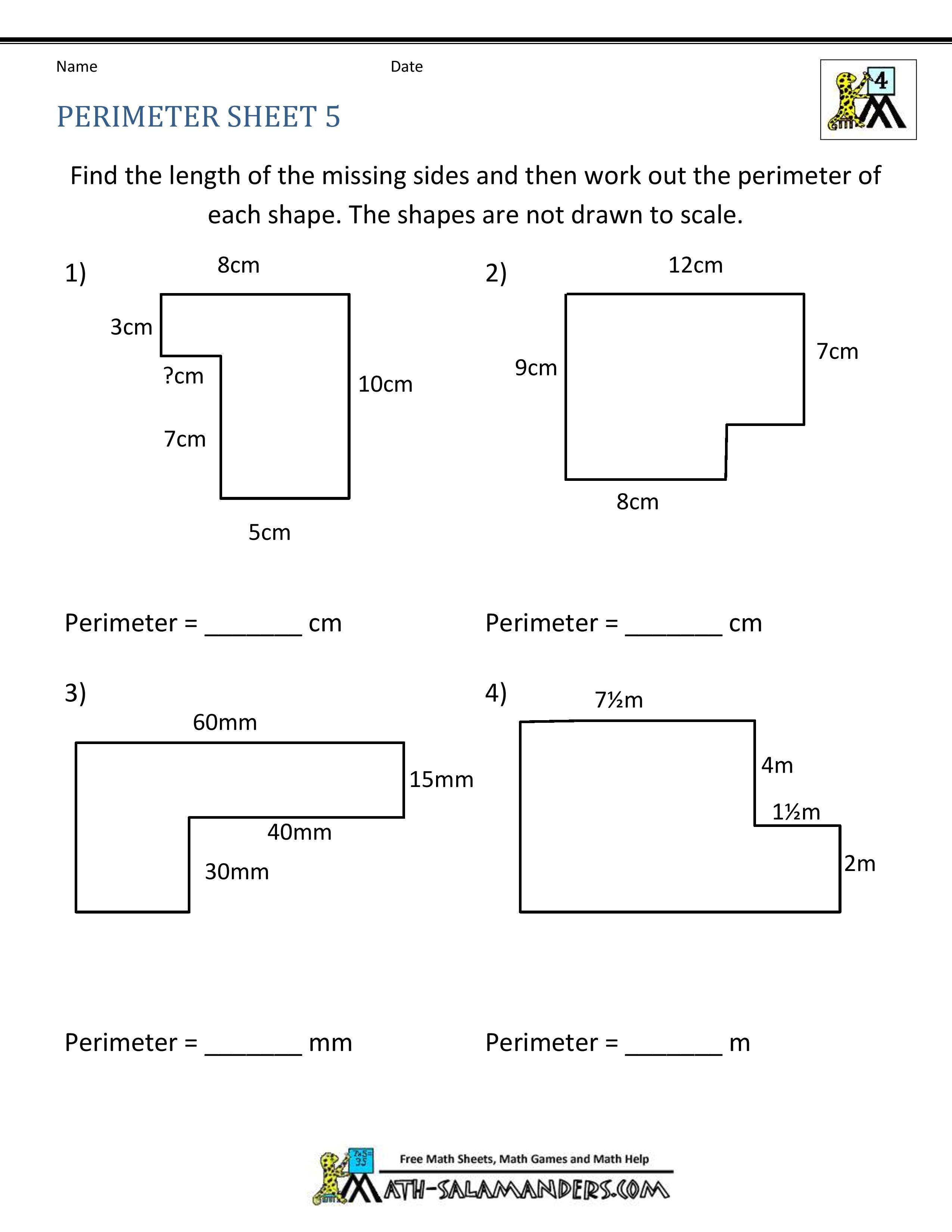 2nd Grade Perimeter Worksheets ✅ Best 10 area and Perimeter Worksheet