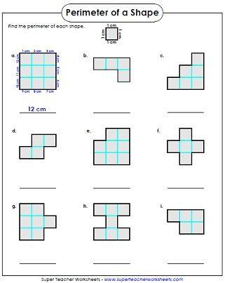 2nd Grade Perimeter Worksheets Perimeter Worksheet 3rd Grade